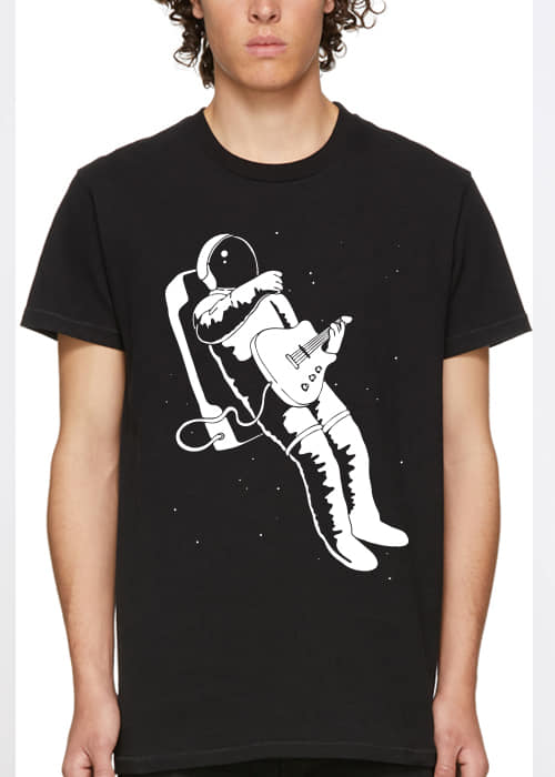 tshirt guitar player interstellar