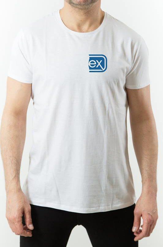 Organic cotton 100% – white – man tshirt ex
