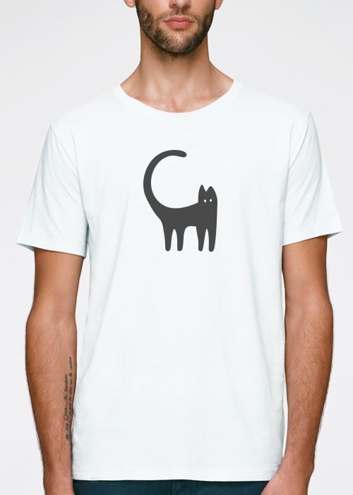 100% pure most sustainable 155 grams organic cotton silly catt-shirt