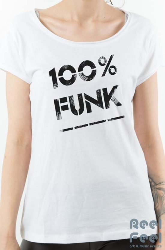100% - Funk white woman tee 100% pure most sustainable 155 grams organic cotton – T-shirt
